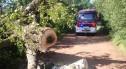 Akcja straży pożarnej na drodze Gromadka–Nowa Kuźnia
