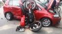 Motocykl zderzył się z autem w Raciborowicach. Wyglądało to strasznie