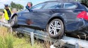 A4: Bmw utknęło na... barierze. 70-letni kierowca nie potrafił wyjaśnić, jak to się stało