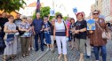 Mieszkańcy Bolesławca manifestują w obronie telewizji TVN i innych wolnych mediów