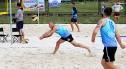 Dolnośląscy strażacy rywalizują w siatkówce plażowej w Bolesławcu