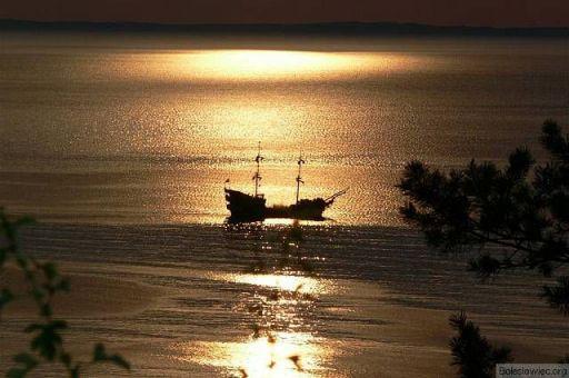 Spiżowy zachód słońca