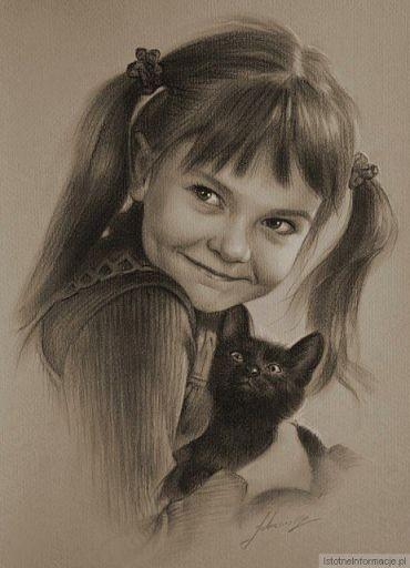Portret z kotkiem