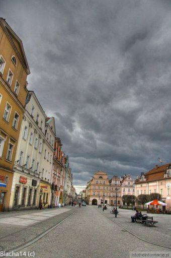 Chmury nad miastem
