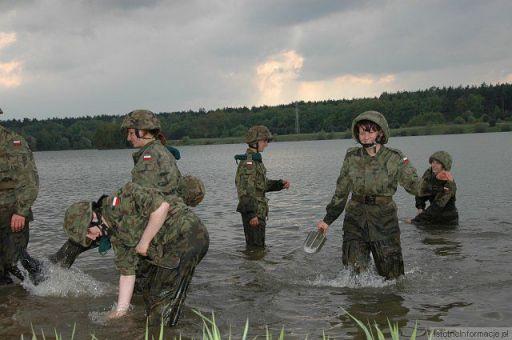 Szkolenie klasy licealnej z Rakowic o wojskowym profilu nauczani