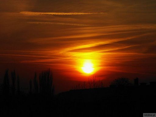 Zachód słońca w Bolesławcu