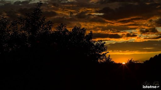 Zachód słońca 19.08.2014