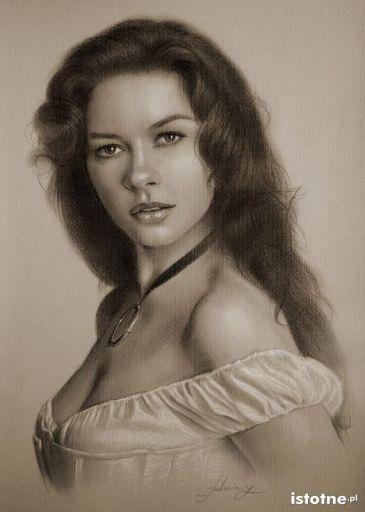 Portret-rysunek