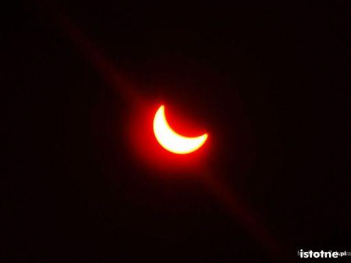 Zaćmienie słońca nad Bolesławcem - 20 marca 2015, godz. 10:40
