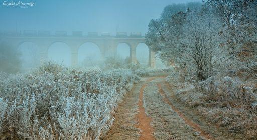 Wiadukt kolejowy w Bolesławcu – Poranne listopadowe klimaty :)