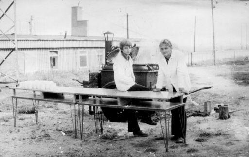 Kuchnia polowa na ślubowaniu. (7.10.1973r)