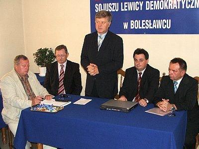 Jerzy Szmajdziński i zarząd bolesławieckiego SLD