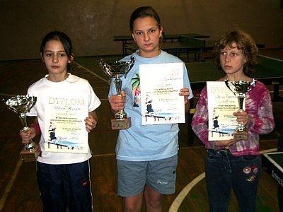 Dziewczęta z pucharami i dyplomami