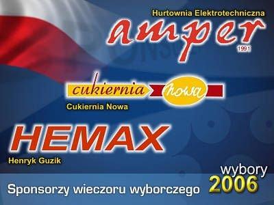 Sponsorzy wieczoru wyborczego 2006