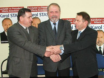 Marian Haniszewski, Karol Stasik i Stanisław Chwojnicki