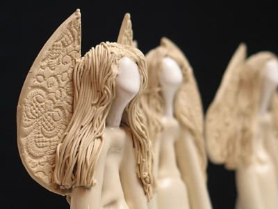 Ceramiczne anioły
