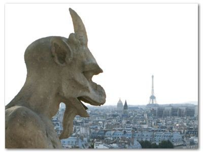 Paryż: Maszkaron przy Notre Dame