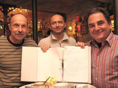 Marcin Niewodniczański, Bogusław Nowak i Robert Makłowicz prezentują przepisy z programu telewizyjnego