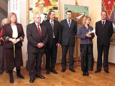 Józefa Witas, Tadeusz Samborski, Victor Alshevsky, rzecznik ambasady, Anna Bober, Aleksandr Averyanov