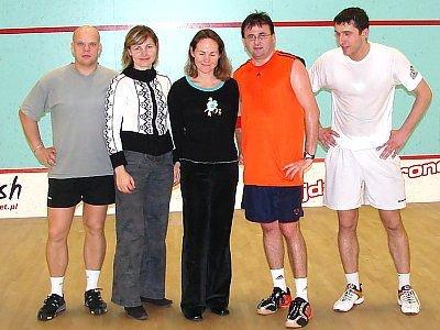Bolesławianianie biorący udział w turnieju squasha