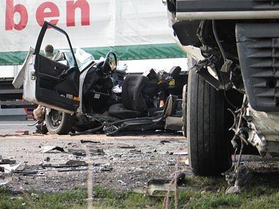 Wrak auta po wypadku