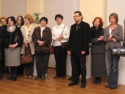 Ludzie w muzeum