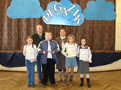 Laureaci Konkursu Recytatorskiego Pegazik