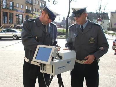 Policjanci i fotoradar