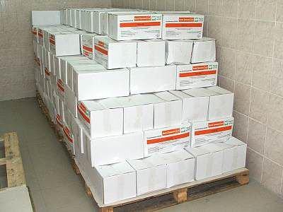 Kartony zawierające ser