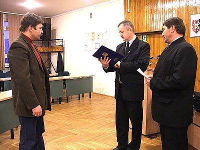 Antoni Skrzypacz z firmy Zehnder, Dariusz Kwaśniewski i Edward Spraski