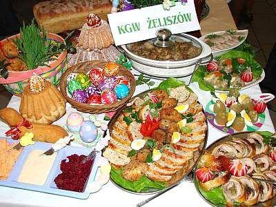 Potrawy przygotowane przez gospodynie z Żeliszowa