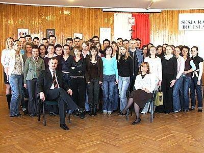 Wszyscy uczestnicy etapu powiatowego konkursu o UE i stypendiach