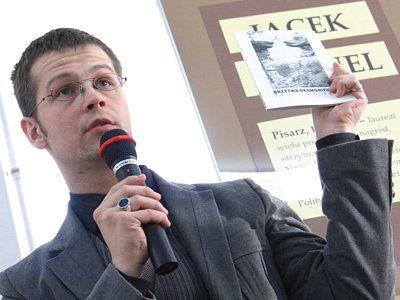 Jacek Dehnel prezentował wiersze z tomiku Brzytwa Okamgnienia