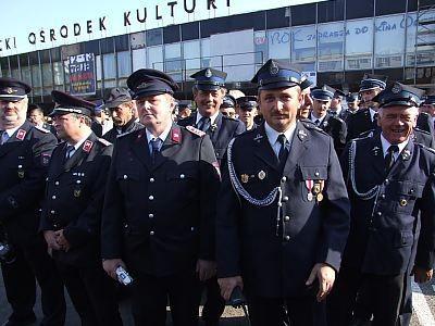 Strażacy na Placu Piłsudskiego