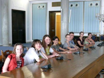 Uczestnicy wyjazdu do Sejmu