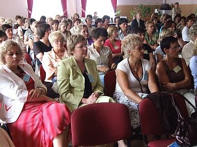 Pielęgniarki podczas konferencji