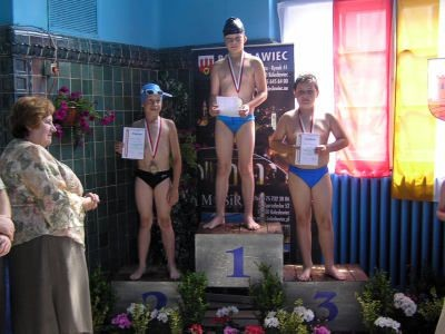 Najlepsi pływacy na podium