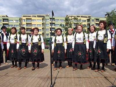 Zespół Jutrzenka w czasie występu
