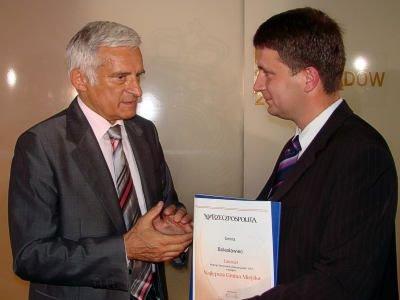 Jerzy Buzek i Tomasz Gabrysiak