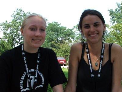 Martyna Sidorowicz i Justyna Turek, wolontariuszki