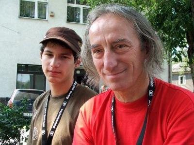 Jacek Gmerek wraz z synem Piotrem
