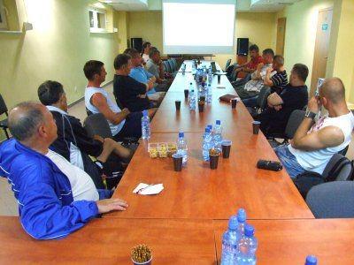 Trenerzy w czasie spotkania ze Stefanem Majewskim