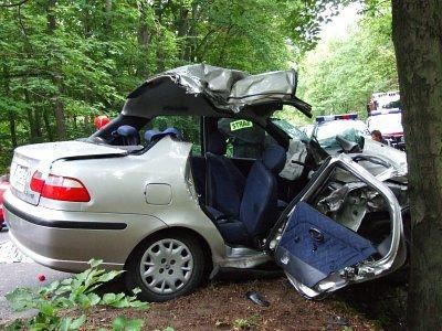 Fiat Albea po wypadku