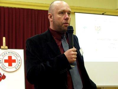 Krzysztof Kubiak podczas wykładu