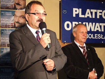 Cezary Przybylski i Stefan Niesiołowski