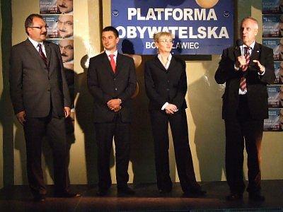 Cezary Przybylski, Tomasz Misiak, Beata Sawicka i Stefan Niesiołowski