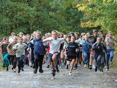 Uczestnicy zawodów biegowych