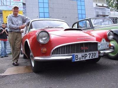 Dumny ze swojego auta Komandor Klubu DKW - Heinrich Poloczek