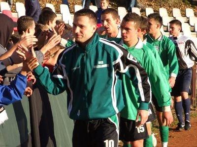 Piłkarze BKS Bobrzanie dziękują kibicom z Klubu Kibica