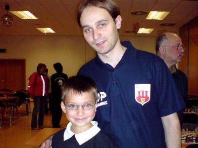 Kacper Grela i jego trener Marcin Zimerman